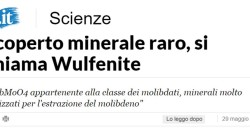 Scoperta la presenza di un minerale raro in Calabria
