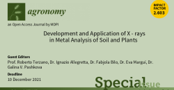 """Special Issue """"Development and Application of X-rays in metal analysis of soils and plants"""""""